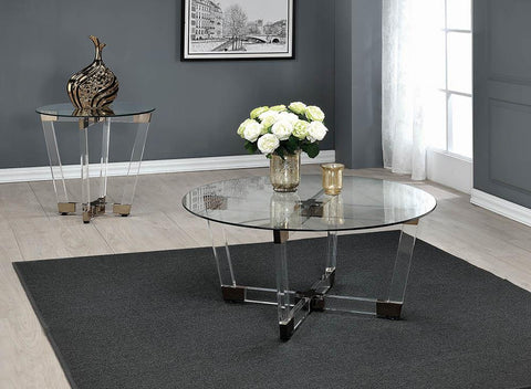 Contemporary Clear End Table