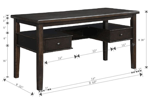 Transitional Chesnutt Writing Desk