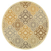 Amina Collection Pattern 4904W 8' Round Rug