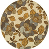 Amina Collection Pattern 9448M 8' Round Rug
