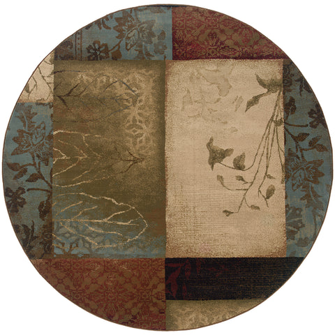 Elizabeth Collection Pattern 040A1 8' Round Rug