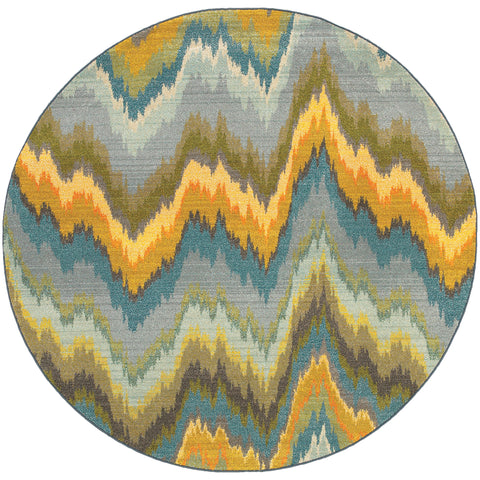 Alisa Collection Pattern 8020G 8' Round Rug