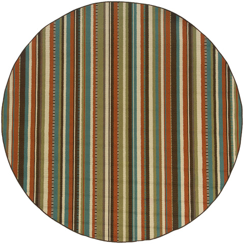 Melisende Collection Pattern 6996C 8' Round Rug
