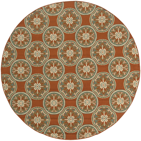 Melisende Collection Pattern 8323D 8' Round Rug