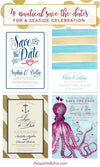 4 Nautical Save The Dates For Your Seaside Wedding Celebration