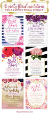 6 Pretty Floral Invitations For A Summer Bridal Shower