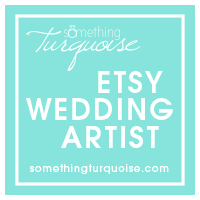 The Spotted Olive on Etsy is a featured Etsy Wedding Artist on Something Turquoise