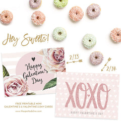 Galentine's & Valentine's Day Card Printables 1 by The Spotted Olive