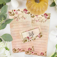 Thanksgiving Printables by The Spotted Olive