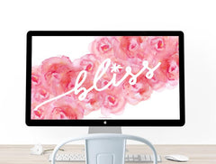 Bliss Desktop Wallpaper Freebie by The Spotted Olive
