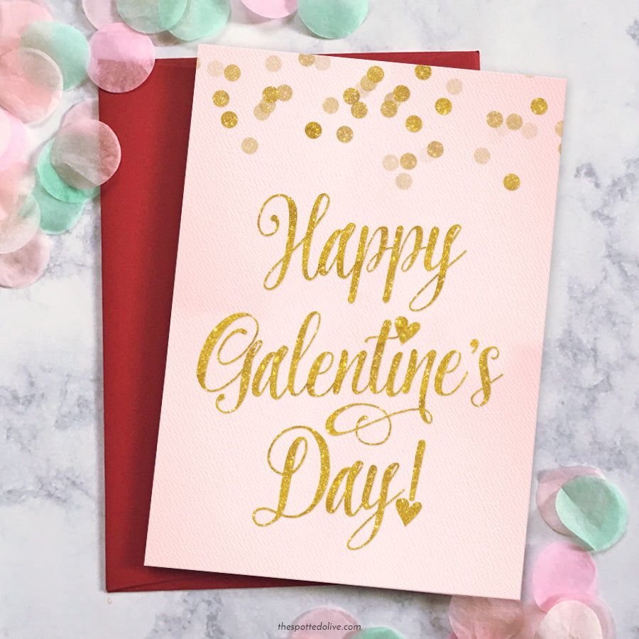 Galentine S Day Invitation Card Printables The Spotted Olive