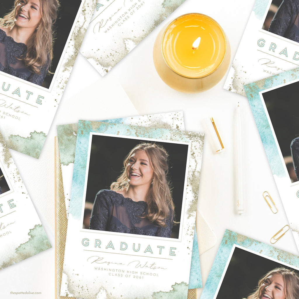 Ethereal Graduation Announcement by The Spotted Olive