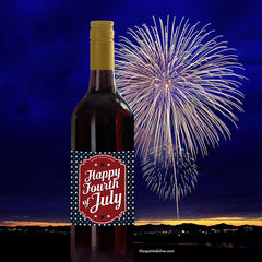 4th of July Wine Bottle Label Printable by The Spotted Olive