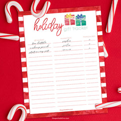 Holiday Gift Tracker Free Printable by The Spotted Olive