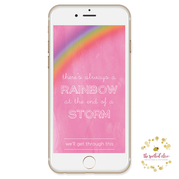 Rainbow Encouragement Text Message - Free Digital Download by The Spotted Olive