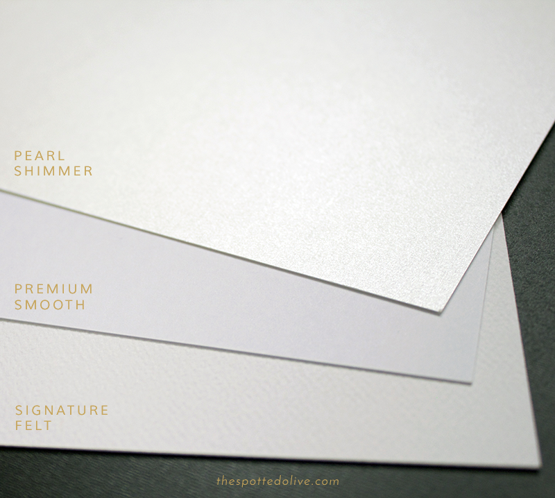 Our Luxe Paper Stocks - The Spotted Olive