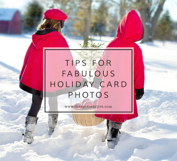 Tips for Fabulous Holiday Card Photos by The Spotted Olive