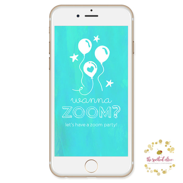 Wanna Zoom Zoom Party Text Message e-Card by The Spotted Olive
