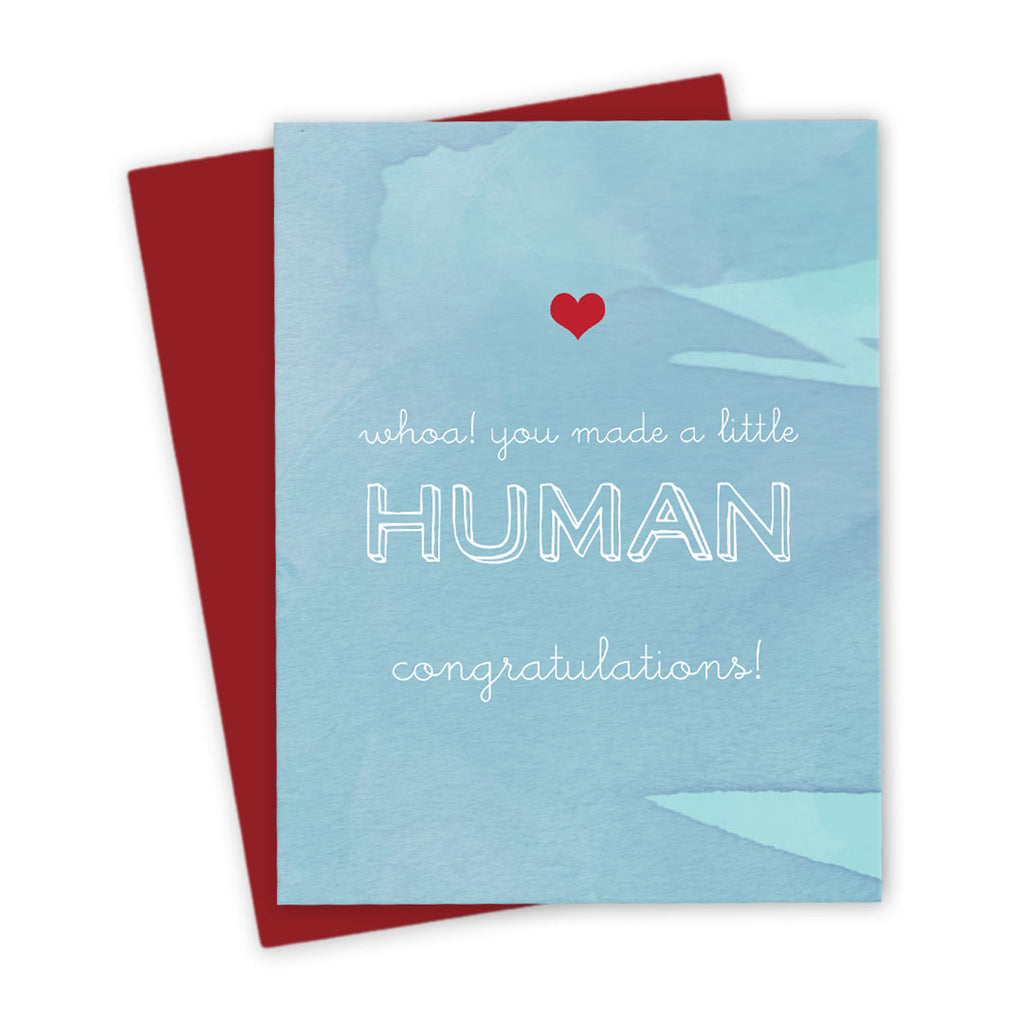 Congratulations Card - You Made A Little Human