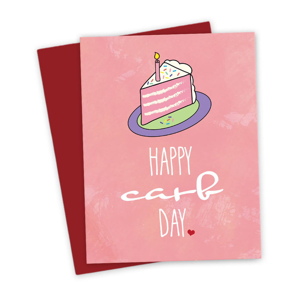 Happy Carb Day Birthday Card by The Spotted Olive - White Background