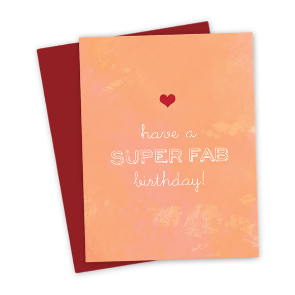 Super Fab Birthday Card by The Spotted Olive - Scene