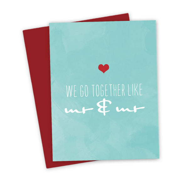 We Go Together Like Mr & Mr Love Card by The Spotted Olive - Scene