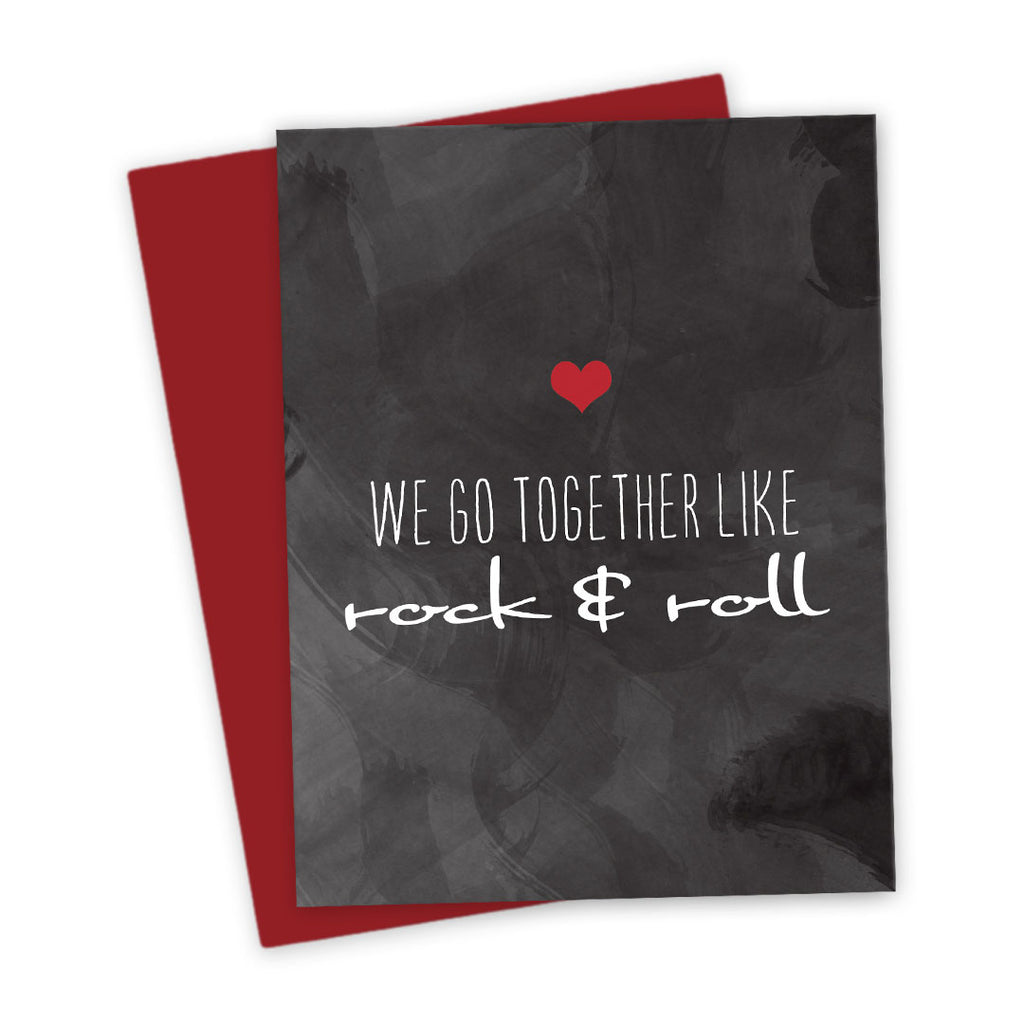 We Go Together Like Rock & Roll Love Card by The Spotted Olive