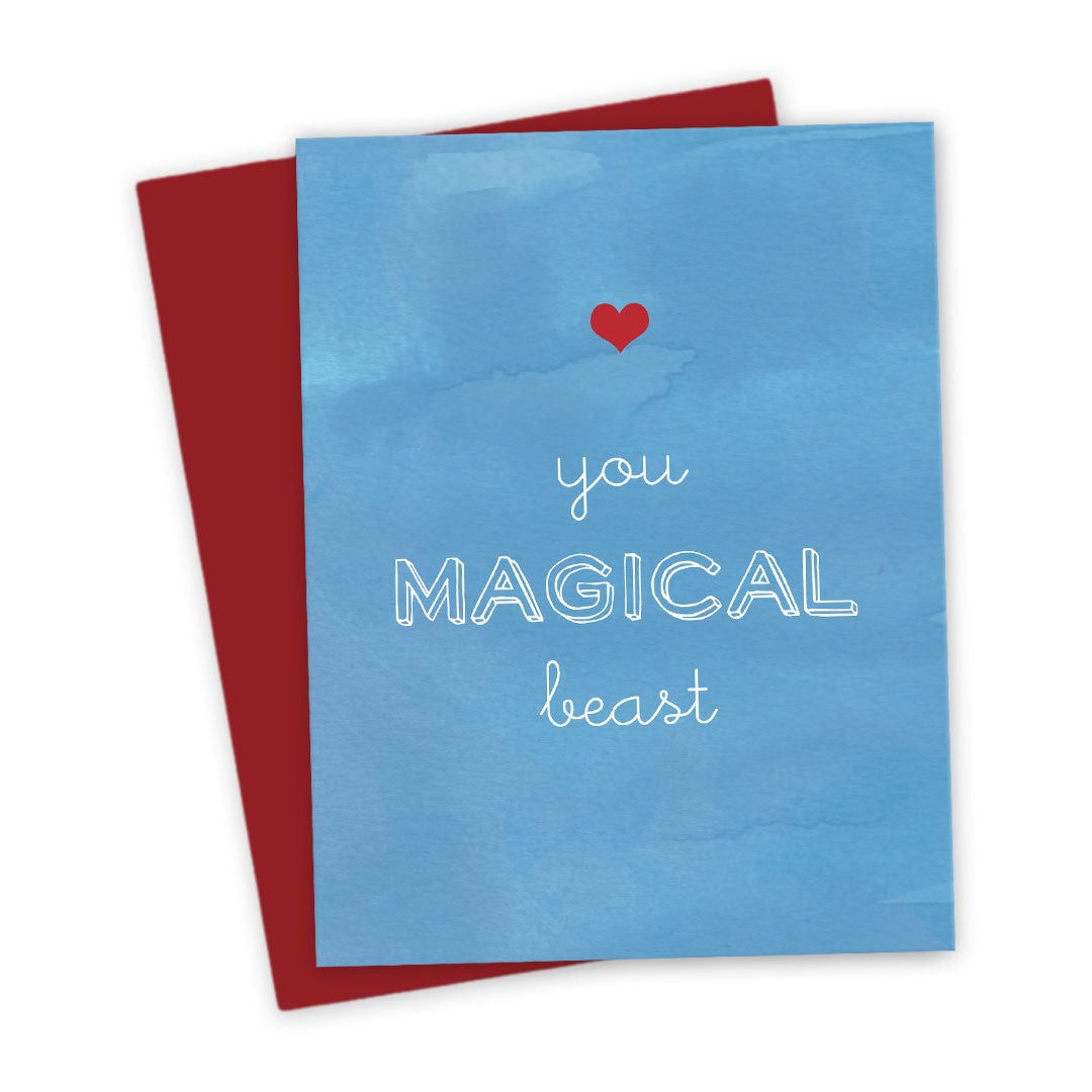 You Magical Beast Love Card by The Spotted Olive - Scene