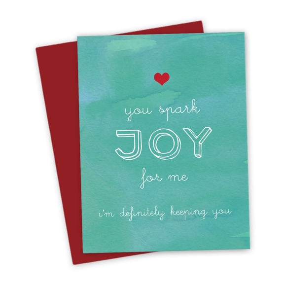 You Spark Joy For Me Love Card by The Spotted Olive - Scene