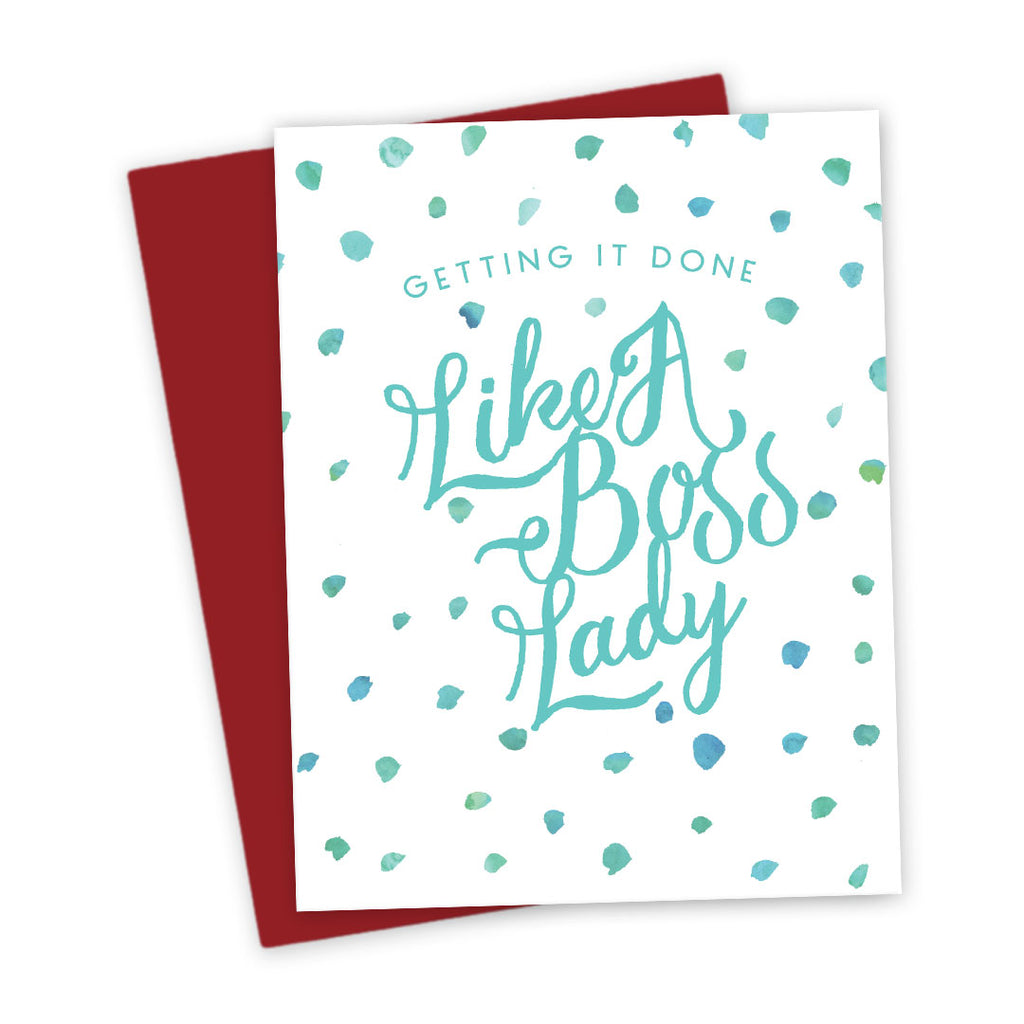 Like A Boss Lady Friendship Card by The Spotted Olive (Teal)