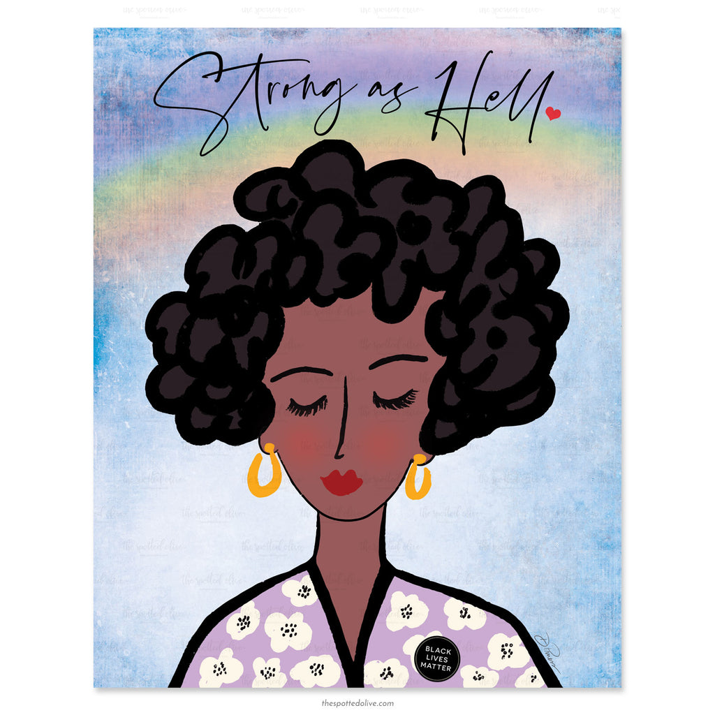 Strong As Hell Printable Art by The Spotted Olive