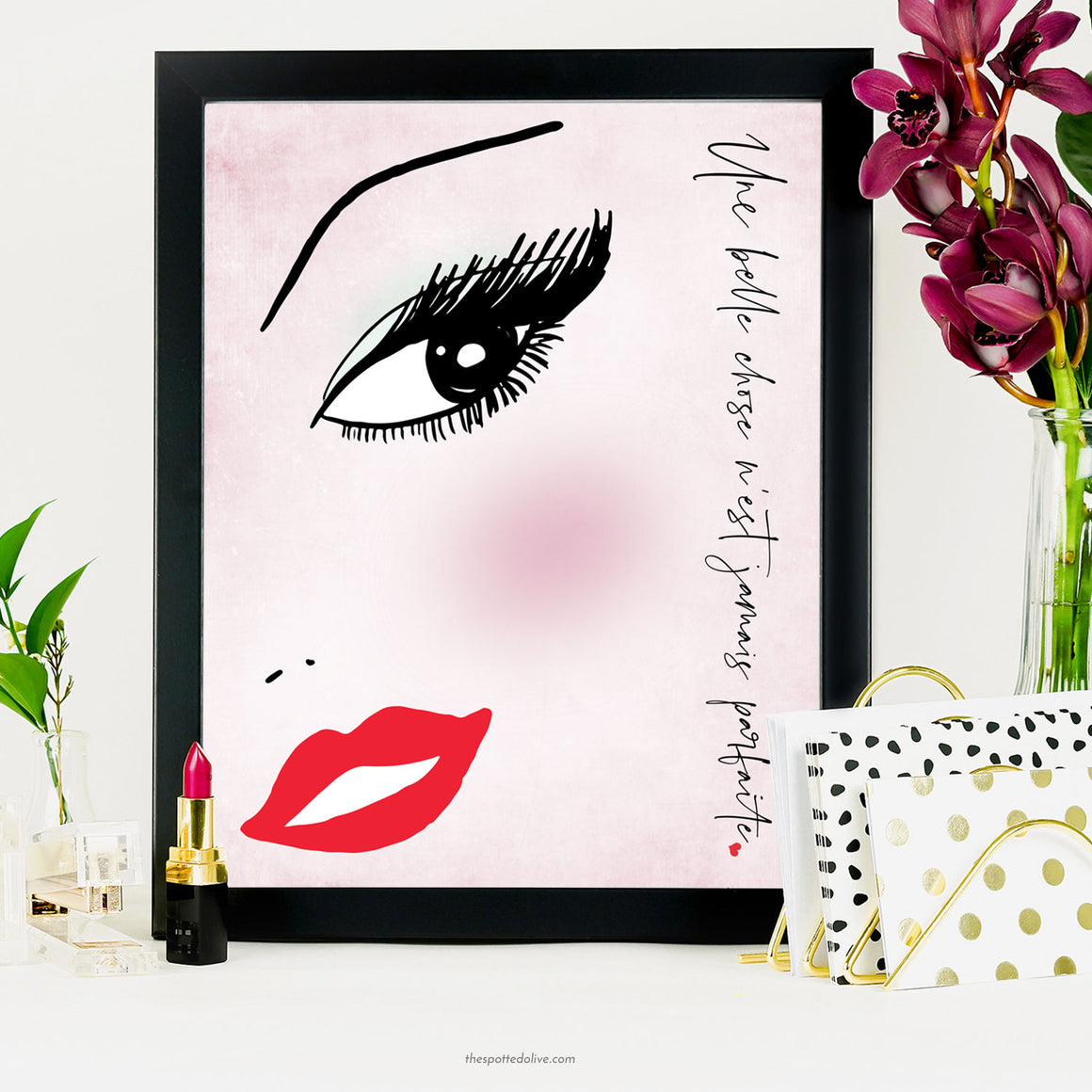 A Beautiful Thing Illustration Printable Art by The Spotted Olive - Scene