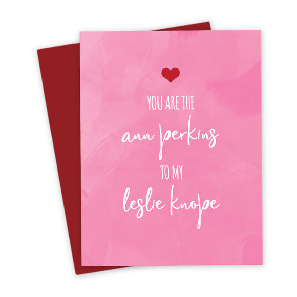 Ann To My Leslie Galentine Card by The Spotted Olive - Scene