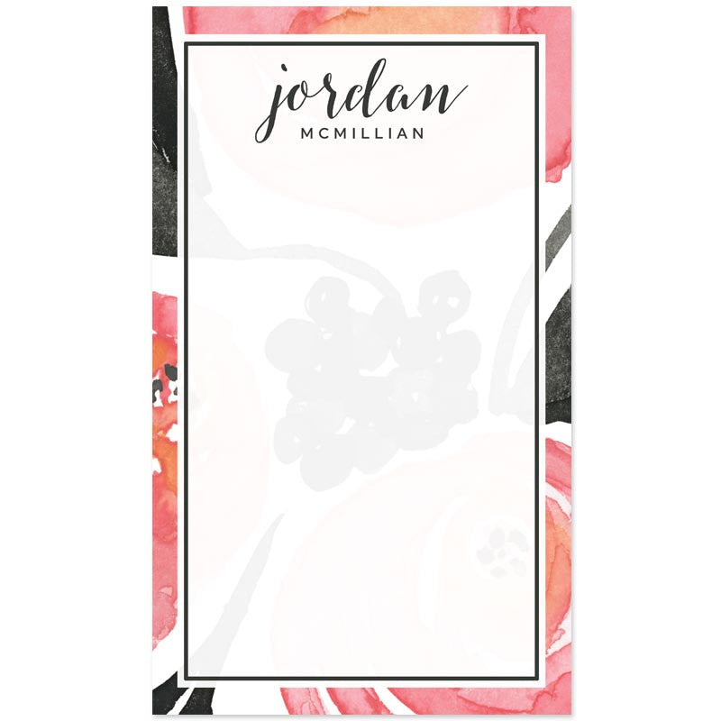 Bold Floral Personalized Notepads by The Spotted Olive