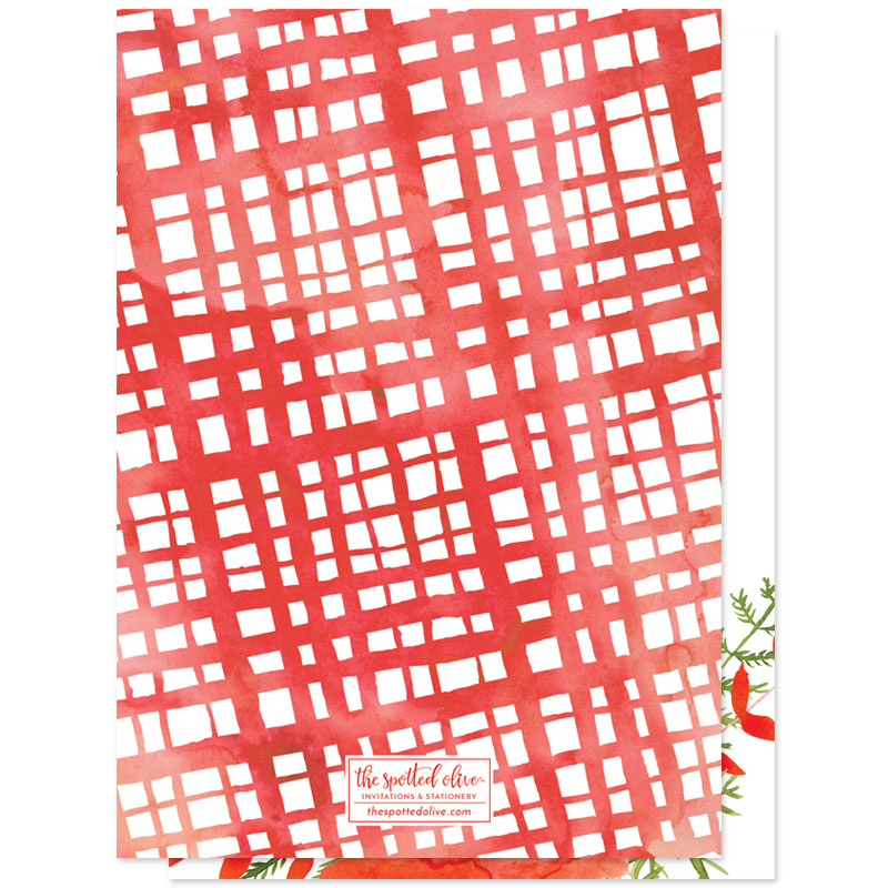 Bold Floral Holiday Photo Cards by The Spotted Olive - Back
