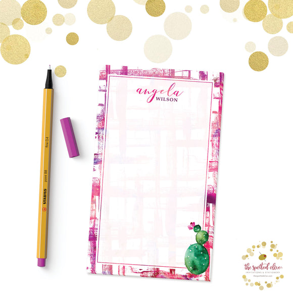 Cactus Cutie Personalized Notepad by The Spotted Olive