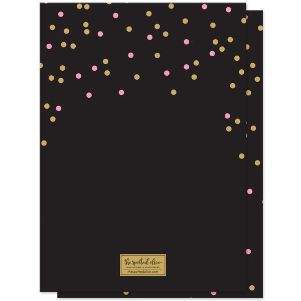 Celebrate Confetti Birthday Party Invitations by The Spotted Olive - Back