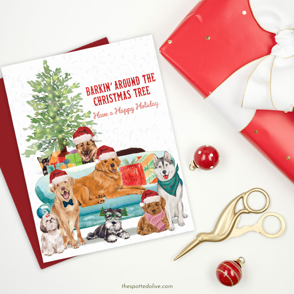 Christmas Dogs Holiday Cards by The Spotted Olive - Scene