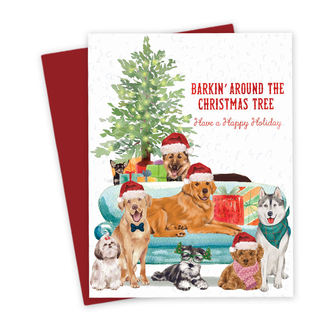 Christmas Dogs Holiday Cards by The Spotted Olive