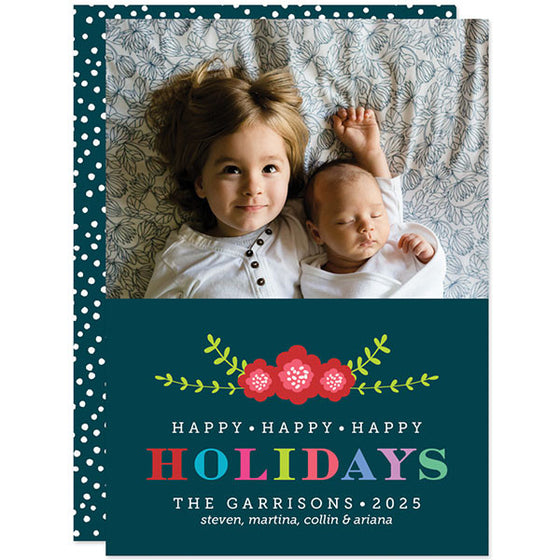 Colorful Holidays Christmas Photo Cards by The Spotted Olive