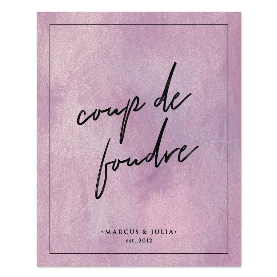 Coupe de foudre personalized art print by The Spotted Olive