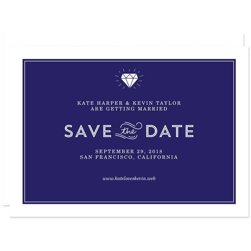 Diamond Simplicity Save The Date Cards by The Spotted Olive
