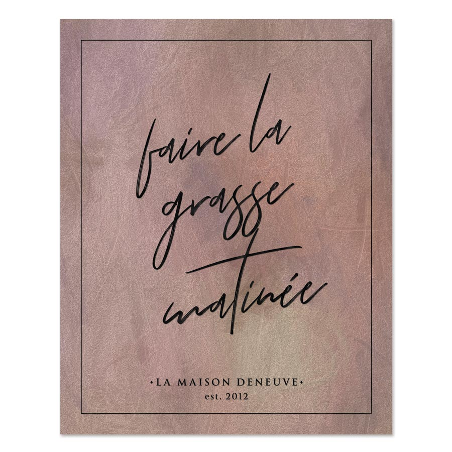 Faire La Grasse Matinée Personalized Art Print by The Spotted Olive