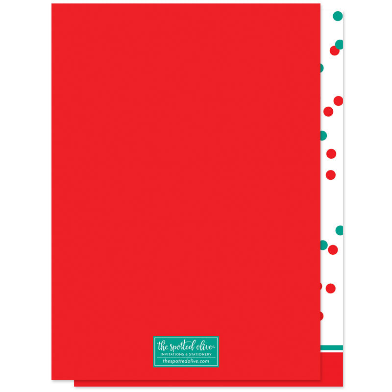 Falalalala Washi Tape Holiday Photo Cards by The Spotted Olive - Back
