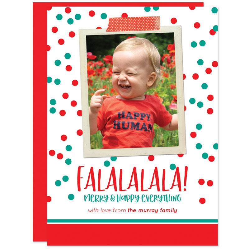Falalalala Washi Tape Holiday Photo Cards by The Spotted Olive