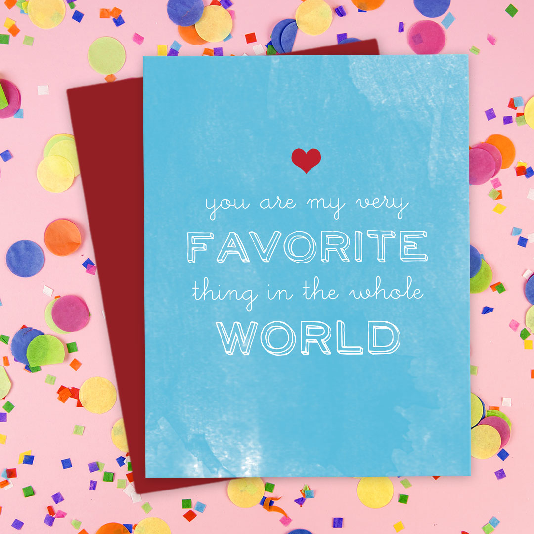 You're My Favorite Thing Card by The Spotted Olive - Scene