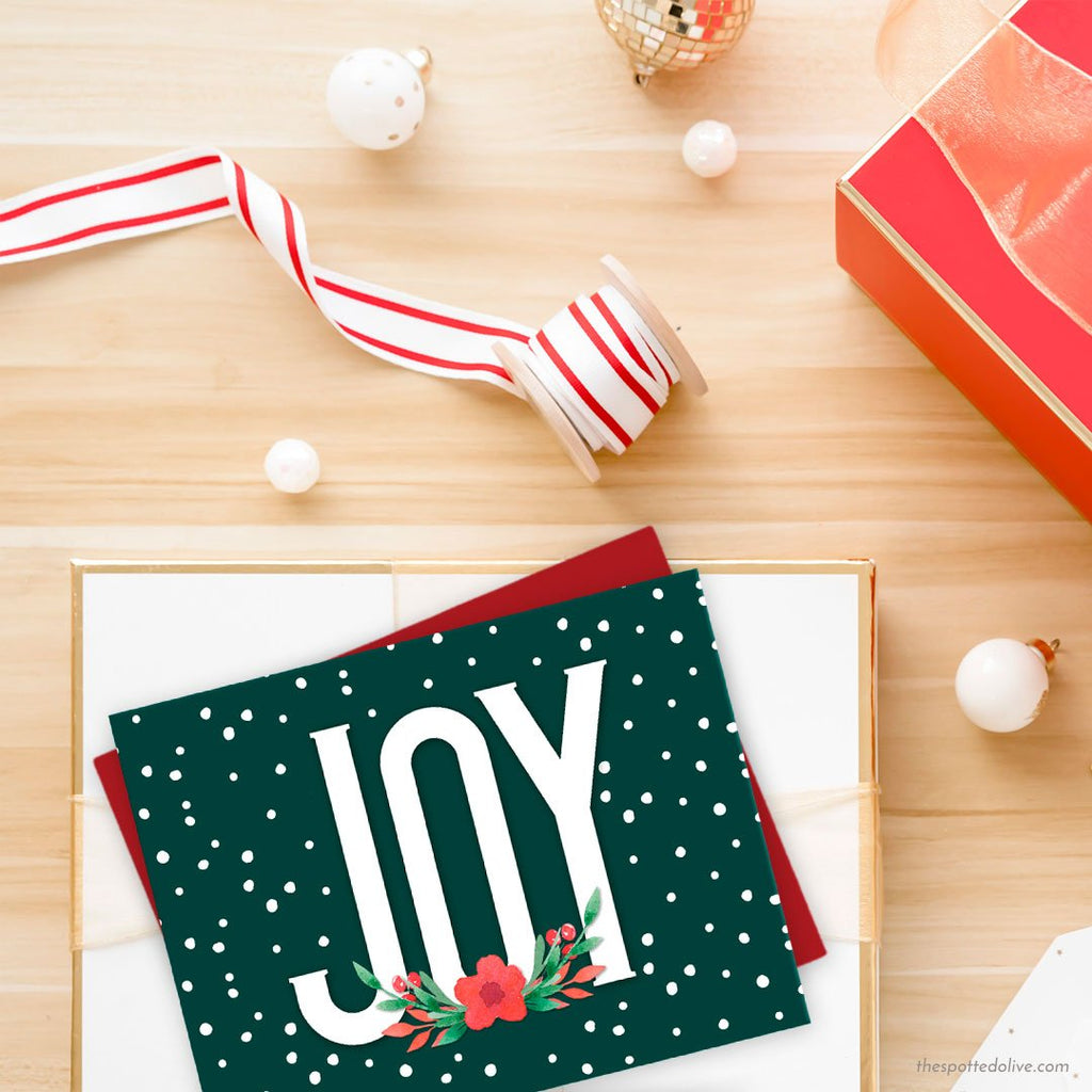 Floral Joy Holiday Cards by The Spotted Olive - Scene