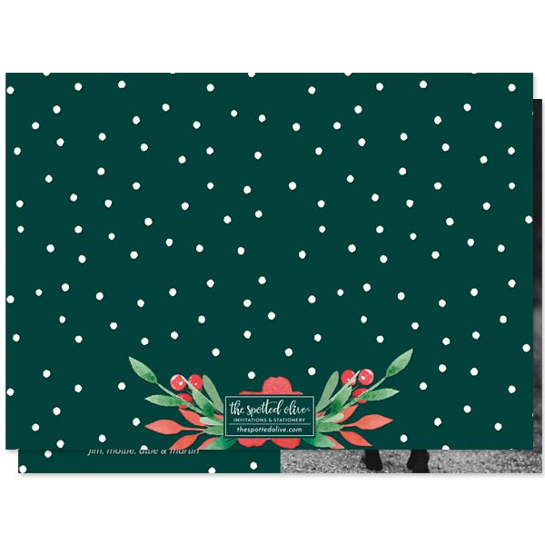 Floral Joy Holiday Photo Cards by The Spotted Olive - Back