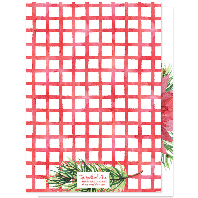 Floral Merriest Holidays Holiday Photo Cards by The Spotted Olive - Back