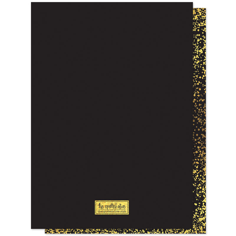 Gold Confetti  Bubbly Holiday Party Invitations Invitations back